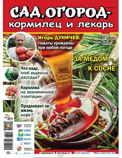 За медом - к сосне 2 / 2018 Сад, огород- кормилец и лекарь