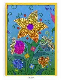 Картинка из фольги (2 в 1) «Бабочка. Цветы»
