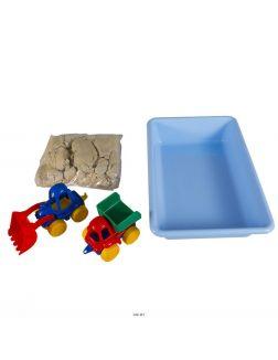 Набор для детского творчества «умный песок» большая стройка (ssn101, genio kids-art)