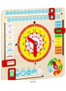«Часы и календарь» игрушка развивающая (master wood)
